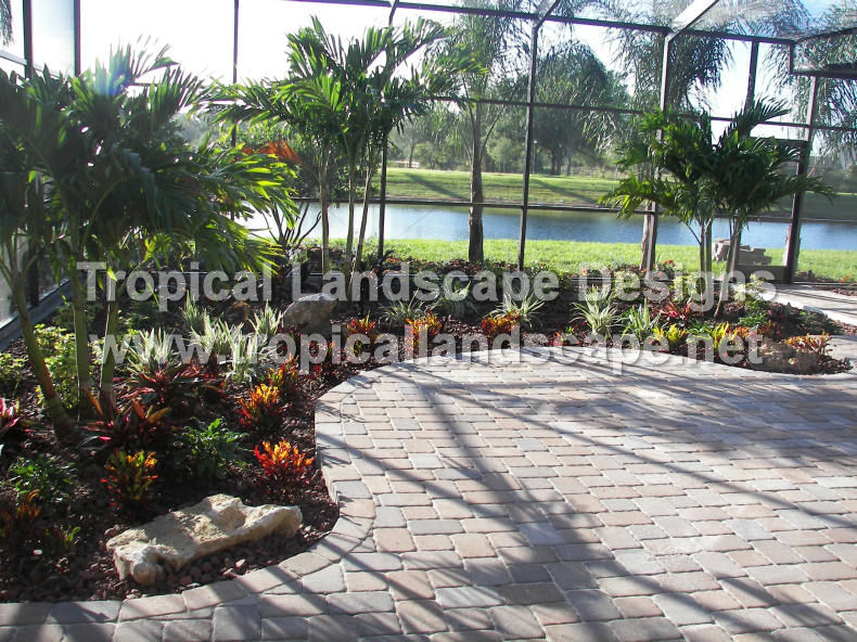 Tropical landscaping designs of tampa bay for Lanai garden designs